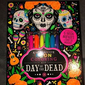 COPY - Neon, Day of the dead coloring book